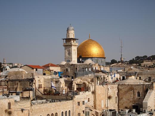Храмовая гора. Мечеть Аль-Акса и Куббат ас Сахара (купол скалы).Место,где лежит камень мироздания.